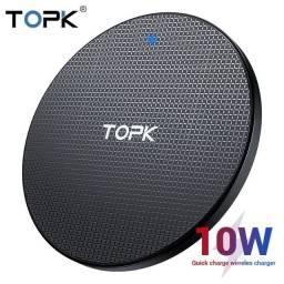 Carregador Por Indução TOPK iPhone Samsung Motorola Fast Charger