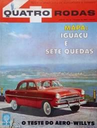 Título do anúncio: Quatro Rodas n°. 19 - 1962 - Teste de Aero-Willys, Foz do Iguaçu, Kombi