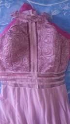 Título do anúncio: Vestido para festa ou madrinha de casamento rosê tamanho P
