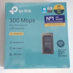 Mini Adaptador de Rede TP-Link Wireless 300 Mbps TL-WN823N