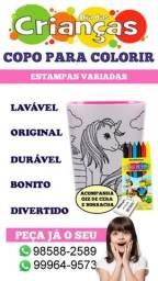 Copos para colorir!! Dia das crianças.