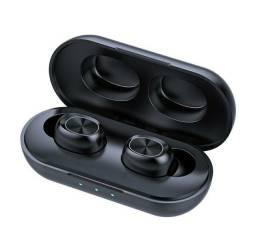 Fone de Ouvido Bluetooth B5 Microfone Caixa de Carregamento Case
