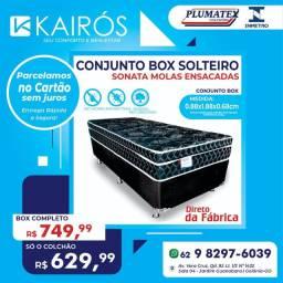 Conj Plumatex Solteiro Sonata Black 26cm até 10x Sem Juros nos cartões <br>