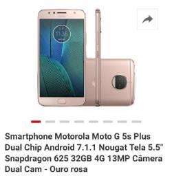 Moto G5 S Plus Rosa parcelo no cartão