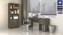 Conjunto de Escritório Office com Armário e Escrivaninha #FreteGRÁTIS* #Garantia #Lacrado