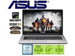 Notebook Gamer Asus| i7| 6 GB| Tela 14| Gforce