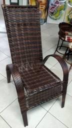 Cadeira de fibra para area interna e externa
