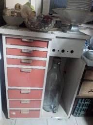 Balcão armário bancada estilo aparador de rodinhas