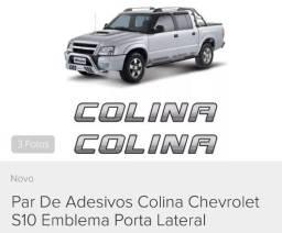 "Par Adesivo / Logotipo ""Colina"" GM S10"