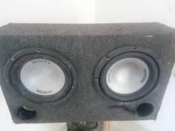 Caixa com 2 alto-falante