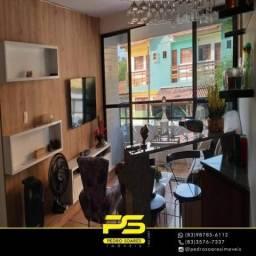 Alugo Apartamento com 3 dormitórios, 140 m² por R$ 5.000/mês - Camboinha - Cabedelo/PB