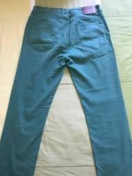 Calça jeans verde AD masculina