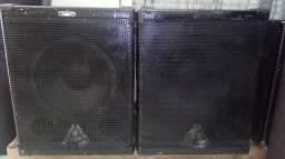 Caixa de som da marca Antera sendo duas caixa um ativa e outra passiva.