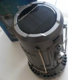 Lampião led lanterna recarregável com ventilador solar