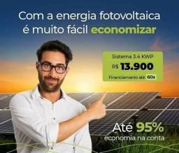 Promoção kit de energia solar,com até 30% de desconto no financiamento