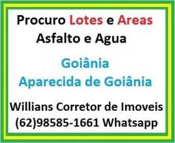 Procuro Lotes e Areas em Goiania e Aparecida de Goiânia