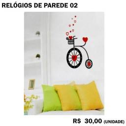 Título do anúncio: Relógio Adesivo - Bike