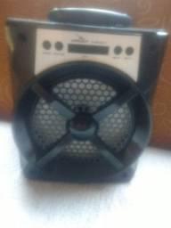 Caixa de som Bluetooth com carregador