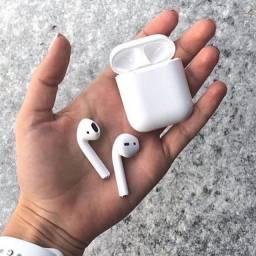 Fone de ouvido Bluetooth i12 tws sem fio branco android e IOS