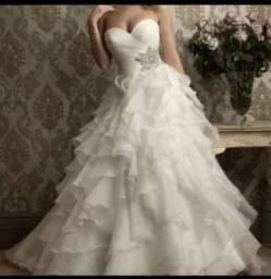 Vestido de Noiva Princesa Novo Parcelamos12x Mod 21