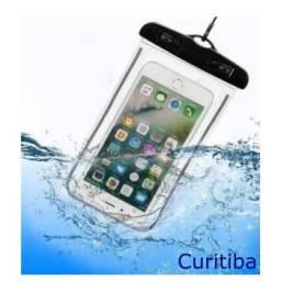 Capinha impermeável bag chuva celular moto bolsa piscina