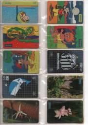 Raridades cartões telefônicos raros