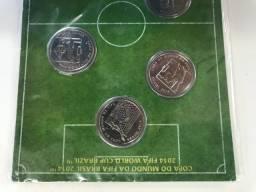 Set 6 Moedas Copa Do Mundo Fifa Brasil 2014 FC