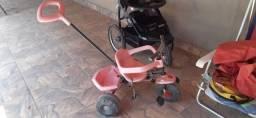 Triciclo Rosa Plus Bandeirante