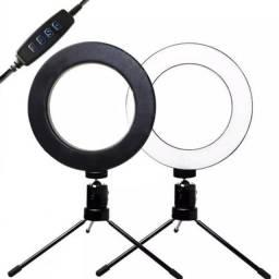 Ring light 6 polegadas com tripé para mesa ótimo para fotos e vídeos (House eletronics)
