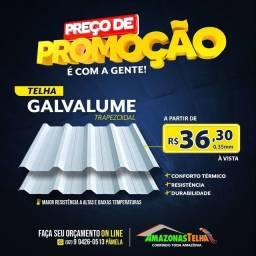 TELHAS GALVALUMES TRAPÉZIO,ONDULADAS, COLONIAIS SOMOS de Manaus