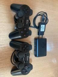 Emulador Raspberry PI3 com 2 controles PS3