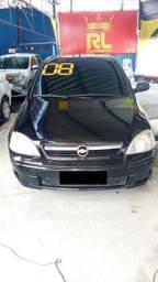 Corsa Sedan Premium 1.4, 2008 - Completo com GNV, entrada + 48x fixas de R$512