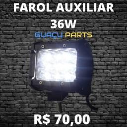 Farol de LED Moto 30w Pisca Amarelo/Branco