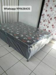duas opções em cama box casal com colchão conjugado em promoção