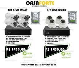 Kit CFTV completo 4 Câmeras