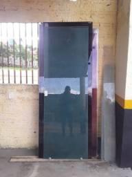 Porta de vidro nova completa