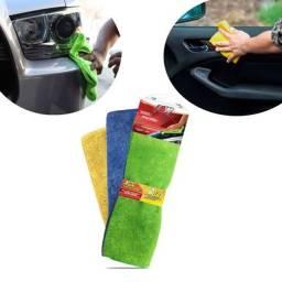 Kit 3 toalhas de microfibra