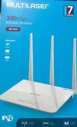 Título do anúncio: Roteador Wireless Multilaser 300mbps com 3 antenas.