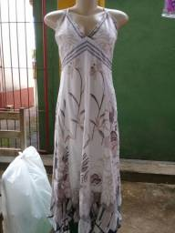 Vestido branco midi