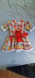Vestido Quadrilha Infantil 2~3 anos