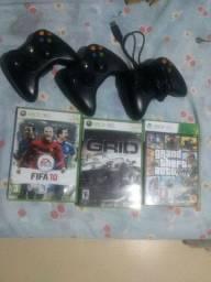 Jogos,controles ,e fonte do Xbox 360