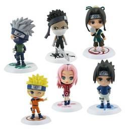 6 Peças - Bonecos Naruto Figuras De Ação Figure