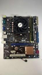 Kit placa mãe, processador e memória AMD