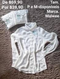 LÍQUIDA! Camisa Malwee Feminina! Últimas peças