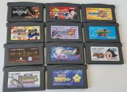 Título do anúncio: 11 Cartuchos Originais Game Boy Advance GBA