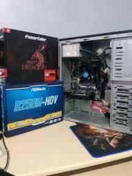 CPU Gamer i3 7100 RX 550 4gb ssd 480gb