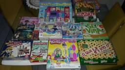 Jogos de tabuleiro, memória, quebra-cabeças, jogos educativos