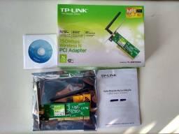 Placa de Rede Adaptador TP-Link Wireless Wi-Fi PCI 150mbps TL-WN751ND (Usado)