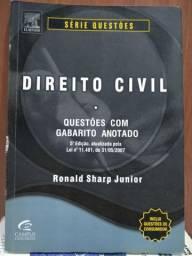 LIVRO: DIREITO CIVIL - QUESTÕES COM GABARITO ANOTADO (Leia)