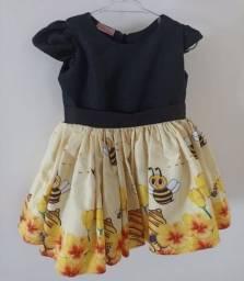 Título do anúncio: Vestido tal mae tal filha abelhinha